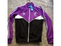 ADIDAS trefoil mens purple jacket track top size Medium brand new with tags !