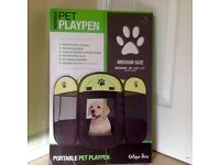 Portable Pet Playpen for small dog, pupp, guiness pig or small pets