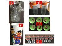 Collectors Items Limited Edition Glasses Bowls Vase Mug Jugs