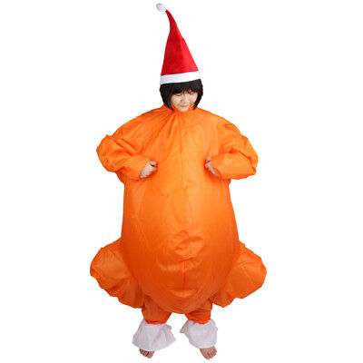 Inflatable Turkey Costume Santa Hat Adult Christmas Fancy Dress Party Outfit](Inflatable Christmas Turkey Costume)