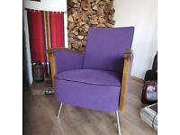 Rockafella Unique Vintage Art Deco Chair, Mid-Century Central European Seating
