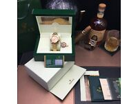 Gold Rolex Daytona with Gold Face comes Rolex Bagged And Boxed