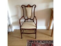 Beautiful Antique Edwardian Chair