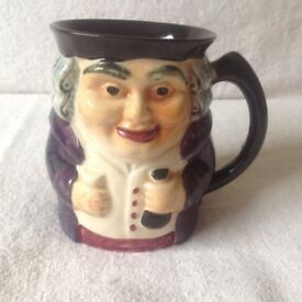 Vintage Genuine Staffordshire Shorter & Son England Hand Painted Toby Jug.