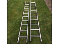 Aluminium 3m ladders (x2)