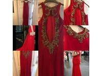 Prom dress red