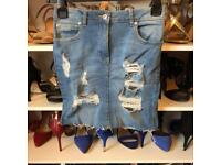 new look denim skirt size 8