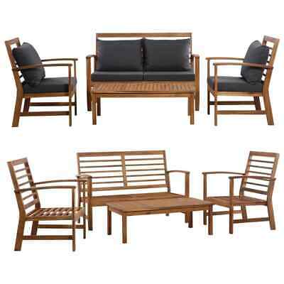 Garden Furniture - vidaXL Solid Wooden Garden Sofa Set 4/12 Pieces Outdoor Patio Furniture Lounge