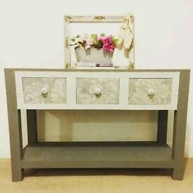 Gorgeous refurbished solid oak console sideboard