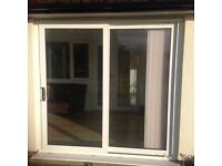 UPVC Sliding Patio Door Double Glazed With Frame and Brass Locking - 2 available