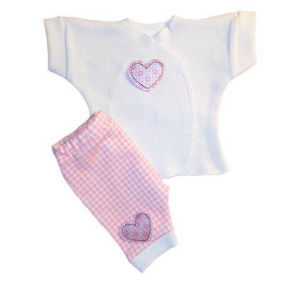 Pink Gingham Hearts Baby Girl Shorts Shirt Clothing. 4 Preemie and Newborn Sizes