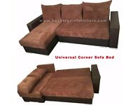 **BRAND NEW COREeR ** SOFA BED WITH STORAGE, BLACK GREY , BROWN VERY COMFORTABLE!