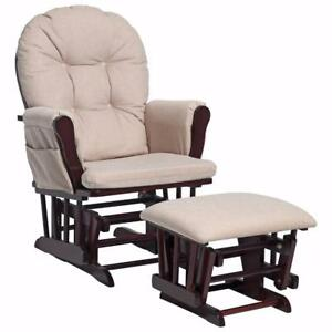 Stork Craft Hoop Glider and Ottoman Set - Cherry / Beige Model #: 06550-614 *NEW* WE HAVE OTHER MODELS TOO*