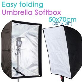 """Photography 50 x 70cm (20"""" x 28"""") Umbrella Rectangle Softbox with Grid For Speedlight Flash"""