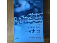 Medical Law and Ethics - Jonathan Herring