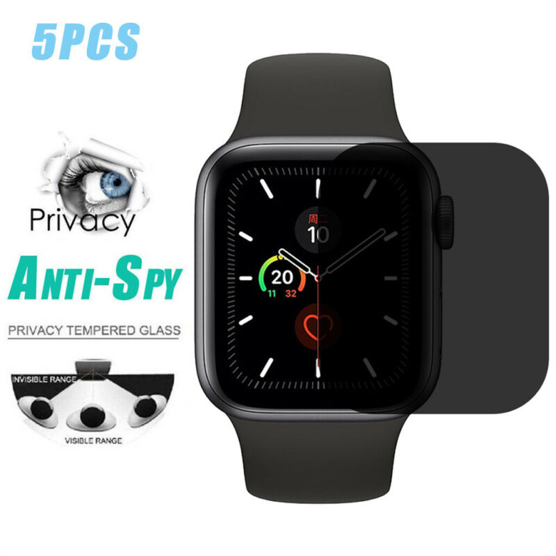 как выглядит Anti-Spy TPU Screen Peep-proof Protector Film For Apple Watch Series 5 40mm 44mm фото