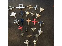 Model military plane collection
