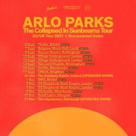 Arlo Parks standing tickets, Manchester Apollo, Tuesday 9th November 2021