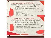 Anthony Joshua Vs Parker Tickets Face Value