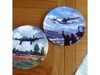 Two Limited Edition Porcelain plates from Bradford Exchange, depicting WW2 aircraft.