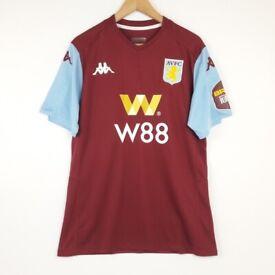 Aston Villa Football Shirt Kappa XL Home Soccer Jersey 2019 2020