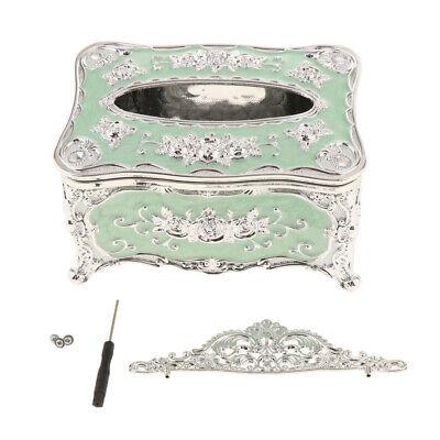Classical Elegant Flower Tissue Box Luxury Napkin Dispenser Cover Case Classic Bath Tissue Dispenser
