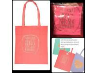 BNWT 'WITH GREAT BROWS COMES GREAT RESPONSIBILITY' TOTE BAG