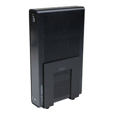 HIDEit Uni-SW (Black) Adjustable Mini Computer Wall Mount, Small Cable Box