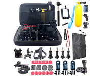 60 pcs Accessories Set Kit for GoPro Hero 2 3 3+ 4 5 Pole Head Chest Mount Strap