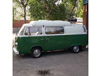 1977 VW bay camper van. Total restoration.