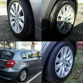 """BMW 1 5X120 GENUINE 16"""" ALLOY WHEELS £150ono"""