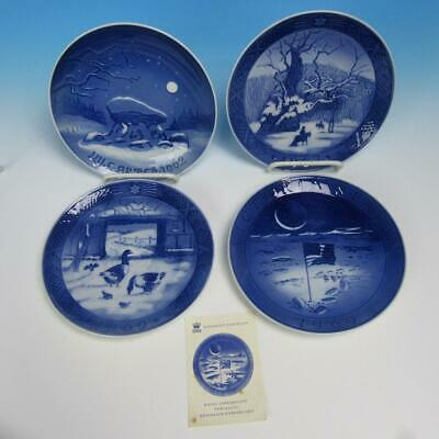 Royal Copenhagen Denmark - 3 Christmas Plates 1962 1967 1969, Moon Landing Plate