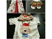 Xmas outfit's for 0.3 months new born