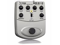 Behringer BDI21 V-Tone Bass Preamp Bass DI (like Sansamp, MXR M80)