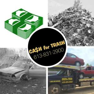 CA$H FOR TRASH Scrap Vehicles, Metal, Steel, Aluminum, Copper, Cars, Batteries, Iron