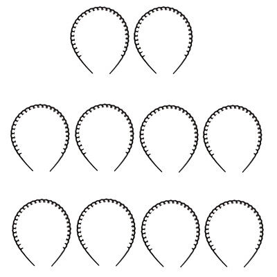 Wholesale 10pcs Wave Headband Plastic Hair Band with Teeth Hair Accessories](Accessories Wholesale)