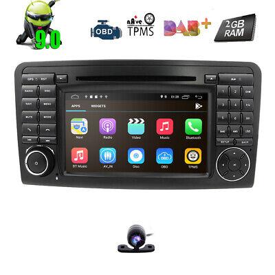 Android 9.0 Autoradio GPS DVD Voller RCA BT5.0 für Mercedes Benz ML/GL W164 X164