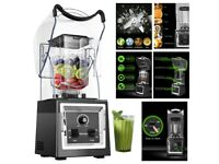 Commercial Blender Ice Crushing Blender 2000W with Sound Cover Enclosure Blender Smoothie Makers