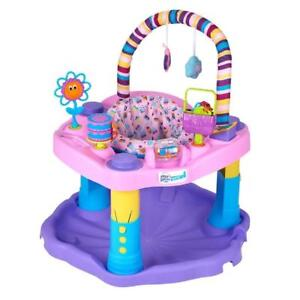 NEW Exersaucer Bounce and Learn Sweet Tea Party, Pink/Purple/Yellow