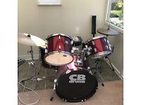 5 piece drum kit with symbols