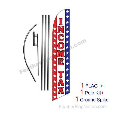 Income Tax Service Usa 15 Feather Banner Swooper Flag Kit With Polespike