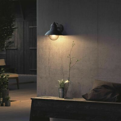 Philips myGarden Wall Light Hoverfly 1x60W Black Outdoor Patio Lamp 1723730PN