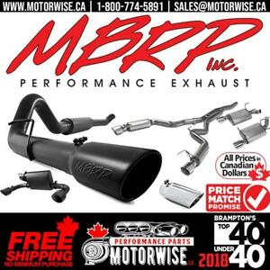 MBRP Exhaust Systems | Find a better price in CANADA? We beat it by 5% | Free Shipping Canada Wide