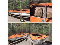 Speedboat and trailer