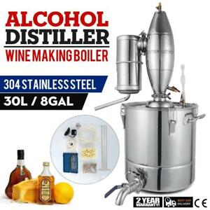 30L Moonshine Wine Making Boiler Alcohol Distiller Brew Liquor Stainless Steel - BRAND NEW - FREE SHIPPING