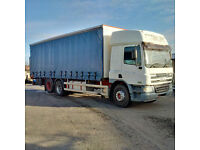 DAF CF75.310 6X2 10 tyres 26 Ton curtainsider with tail lift. Low miles.