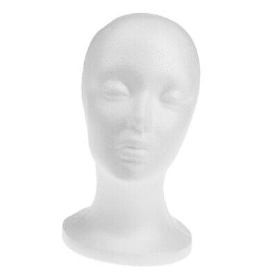 Female Polystyrene Styrofoam Model Head Mannequin Stand Wig Hair Hat Display