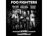 2 x Standing Tickets for Foo Fighters at Manchester Etihad Stadium - 19th June 2018