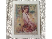 A Gathering Blossoms Painting by The Famed Chinese Painter Hua Chen - COA