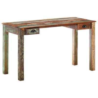 Vidaxl Desk Solid Reclaimed Wood Writing Working Desk Office Furniture Wooden